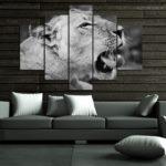 Zívající lvice 2310 - BW - vzor