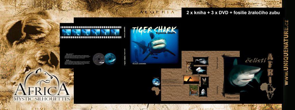 1.500 - kniha Tiger shark + čelisti Afriky